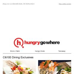 [HungryGoWhere] 50% Off Buffet for 2nd Diner, 20% Off on A La Carte Items & More for Citi Cardholders!