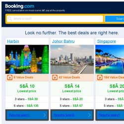 [Booking.com] Harbin, Johor Bahru and Singapore -- great last-minute deals as low as S$ 10!