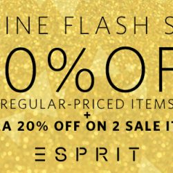Esprit: 12.12 Special Online Flash Sale with 40% OFF Regular-Priced Items + Extra 20% OFF on Sale Items!