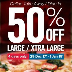 Domino's Pizza: Enjoy 50% OFF Pizzas for Takeaway!
