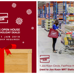 NTUC FairPrice: Warehouse Club Christmas Open House - Everyone's Invited!