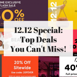 12.12 Special: The Best 12.12 Sales Happening In Singapore Online & In Stores!
