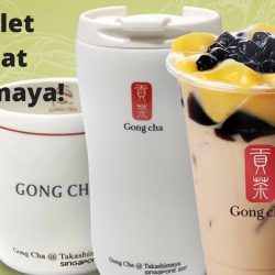 Gong Cha: Enjoy FREE Limited Edition Merchandise & FREE Upsize at Gong Cha's New Outlet!
