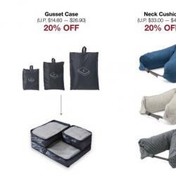 MUJI: Enjoy 20% OFF Neck Cushions & Gusset Cases!