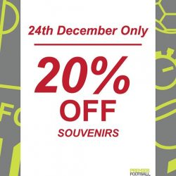 [Premier Football Singapore] 20% OFF all souvenirs!