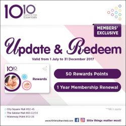 [10 10 Mother & Child Essentials] Redeem your 50 Rewards Points and Membership Renewal Now!