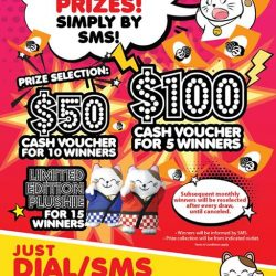 [Manekineko Karaoke Singapore] More than 50 winners had walk away with cash vouchers and plush toy for the past few months since we