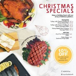 [Munch Saladsmith] Today is the last day to enjoy the 10% early bird discount on your Christmas Specials orders.