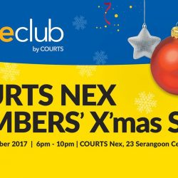 [Courts] HomeClub members, we'll be having an EXCLUSIVE Christmas sale this Friday (22 Dec) from 6 to 10pm at COURTS