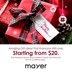 [MAYER] Christmas is nearing but still have no idea what to get for your friends and family?