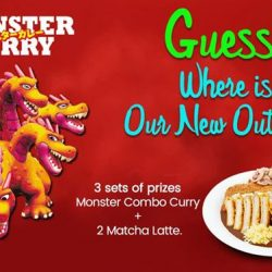 [Monster Curry] GUESS❓GUESS❓GUESS❓WIN FREE Monster Combo Curry & 2 Matcha Latte with your loved ones!
