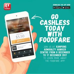 [Foodfare] We have officially launched our Foodfare App at Kampung Admiralty Hawker Centre!