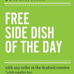[Marché Mövenpick Singapore] Day 4 of surprise - 04 December 2017: FREE* side dish of the day with any order at the Seafood counter*