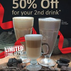 [Gelare Café] 50% OFF your 2nd drink* on TGIF!