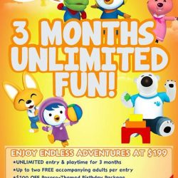 [Pornro Park Singapore] Enjoy UNLIMITED PLAYTIME & ENTRY over three months to Pororo Park Singapore at only $199!