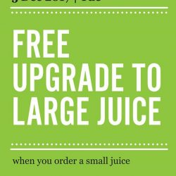 [Marché Mövenpick Singapore] Day 5 of surprise - 05 December 2017: FREE* upgrade to large juice when you order a small juice*T&C