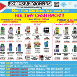 [Holland & Barrett Singapore] Get The New Paper this Thursday for extreme promotion this December holiday season.