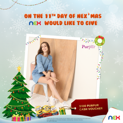 [NEX] On the eleventh day of NEX-mas, we would like to give, $100 Cash Voucher from Purpur!