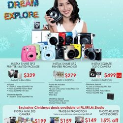 [FUJIFILM] Celebrate this festive period with FUJIFILM Instax from 1-31 December 2017 and receive additional gifts with purchase.