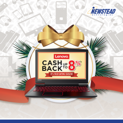 [Mad for Garlic] This festive season, get Cash Back up to 8% with purchase of qualifying Lenovo products during the promotion period.