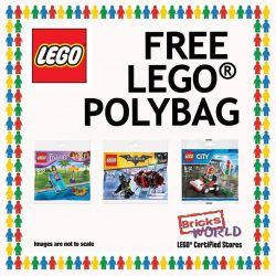 [Bricks World (LEGO Exclusive)] FREE LEGO® POLYBAGReceive a FREE LEGO® POLYBAG when you spend $50 or more!