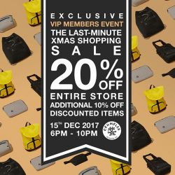 [Crumpler] To our CrumplerVIP Member, if you've missed the last VIP Member event, this is your chance to to get