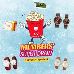 [Golden Village] There are 2 more weeks until the Member's Super Draw ends!
