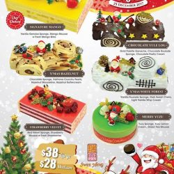 [SWEE HENG BAKERY] Amazing Christmas cakes now is available at all Swee Heng Bakery outlets!