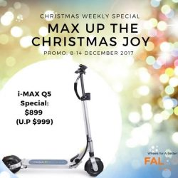 [Falcon PEV] MAX UP THE CHRISTMAS JOY with these awesome i-MAX scooter deals from Falcon PEV - Home of the Best Electric
