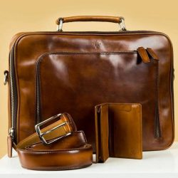 [STRAITS ESTABLISHMENT] Leather briefcase by CNES Shoemaker.
