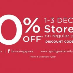 [Spring Maternity] Bove is having 20% off* STOREWIDE from 1st - 3rd Dec.