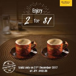 [OLDTOWN White Coffee Singapore] Save the date and drop by for our Jurong Point Opening celebrations.