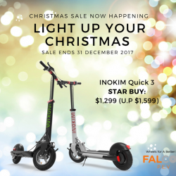 [Falcon PEV] This Christmas, JUST TAKE $300 OFF our INOKIM Quick 3.