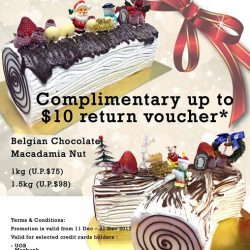 [Andersen's of Denmark Ice-Cream Singapore] Yet to make your log cake reservation for your festive celebration?