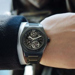 [The Hour Glass] Stunning and super ceramic, the Laureato Skeleton takes an audacious walk on the dark side.