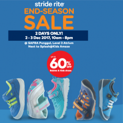 [Stride Rite/Petit Bateau] Stride Rite END-SEASON CLEARANCE SALE starts tomorrow, with up to 60% OFF on kids and babies shoes!