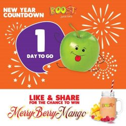 [Boost Juice Bars Singapore] ONE MORE DAY TO BID 2017 GOODBYE!