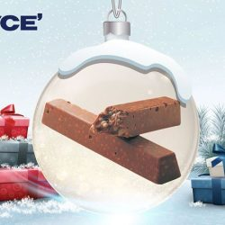 [Royce'] Crunchy, finger-sized chocolate bars packed with macadamia nuts, pecans, cashews, almonds and crispy puffs.