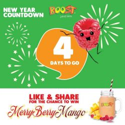 [Boost Juice Bars Singapore] 4 more days to 2018!