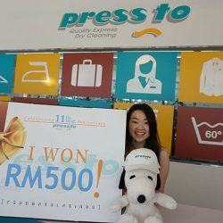 [Pressto Dry Cleaning] Congratulations to our Weekly winners!