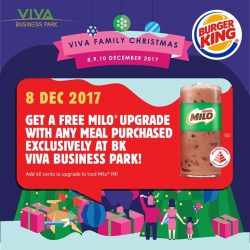 [Burger King Singapore] In collaboration with VIVA Business Park's Family Christmas event on 8 Dec, Burger King will be giving you a