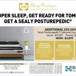 [Sealy Singapore] Get ready for the New Year with a new Sealy Posturepedic!