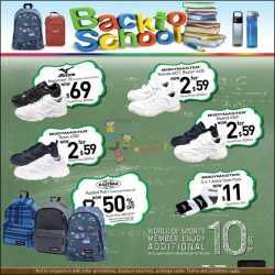 [World of Sports] Get your Christmas shopping and back to school supplies at the same time!