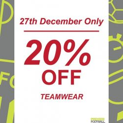 [Premier Football Singapore] 20% OFF all team wear.