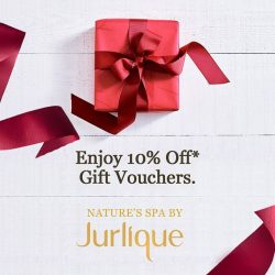 [Jurlique Day Spa] Enjoy 10% off any gift vouchers online or in store at Nature's Spa By Jurlique Offer is valid until