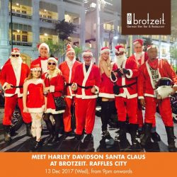 [Brotzeit German Bier Bar and Restaurant] How cool is the Harley Davidson Santa Claus Motorrad Parade!
