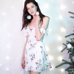 [MDSCollections] Freesia Cami Dress in White Floral | Blossom | Best sellers