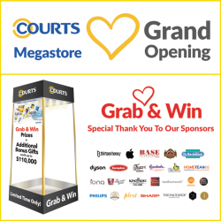 [Courts] We would like to extend a big THANK YOU to our Grab & Win sponsors below for helping us make our