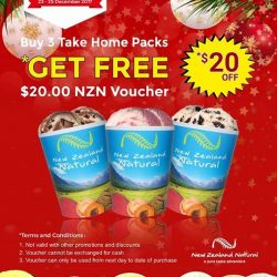 [New Zealand Natural Café] It's Christmas and there's still time to fill your freezer with more delicious ice cream for family and