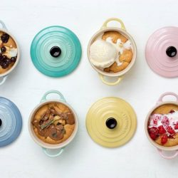[Le Creuset] This sweet pastel Set of 4 Mini Round Cocotte is from the new Sorbet Collection.
